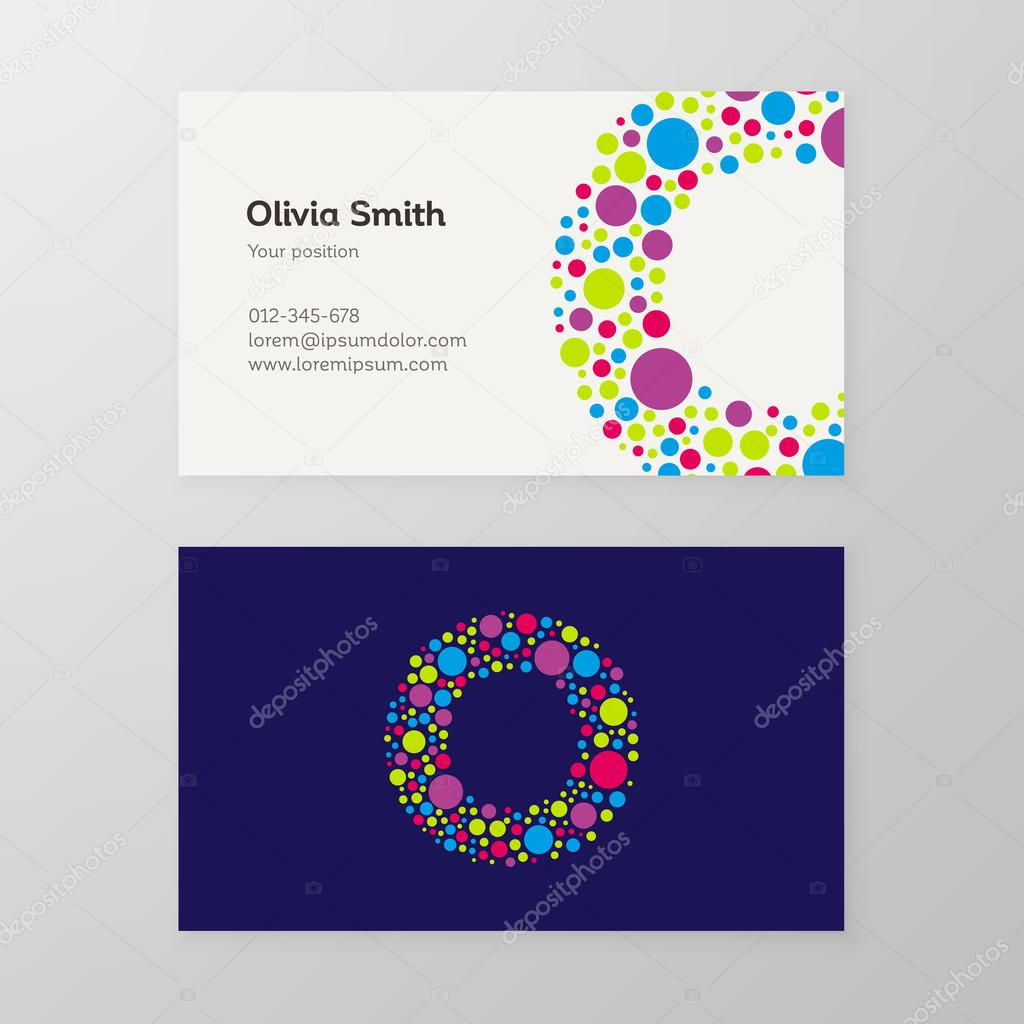 Modern letter o circle business card template stock vector modern letter o circle business card template stock vector wajeb Images