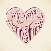 Vektor Weihnachten Herz Typografie Hintergrund