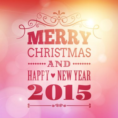 Merry christmas and happy new year 2015 poster