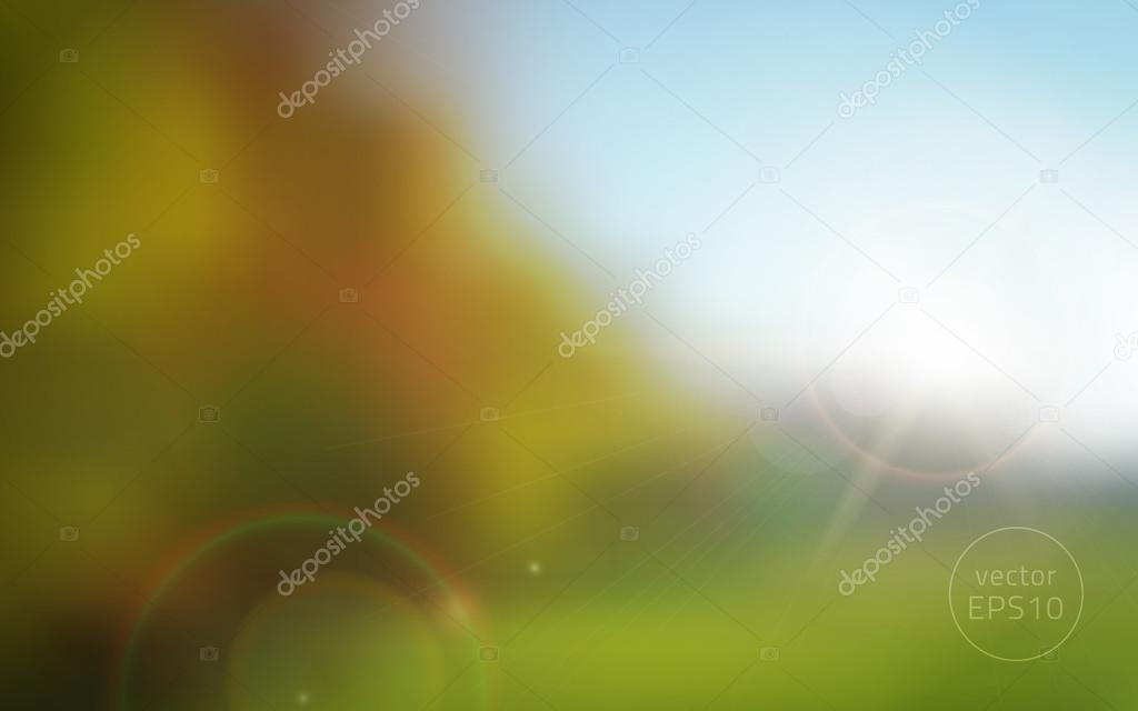 blurred autumn sunset vector background