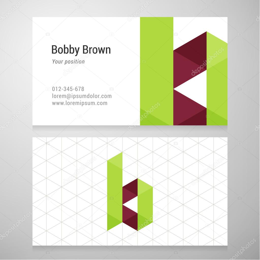 Modern letter b origami business card template stock vector modern letter b origami business card template stock vector jeuxipadfo Gallery