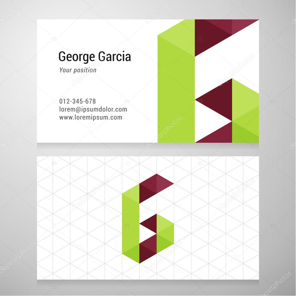 Modern letter g origami business card template stock vector modern letter g origami business card template stock vector jeuxipadfo Gallery
