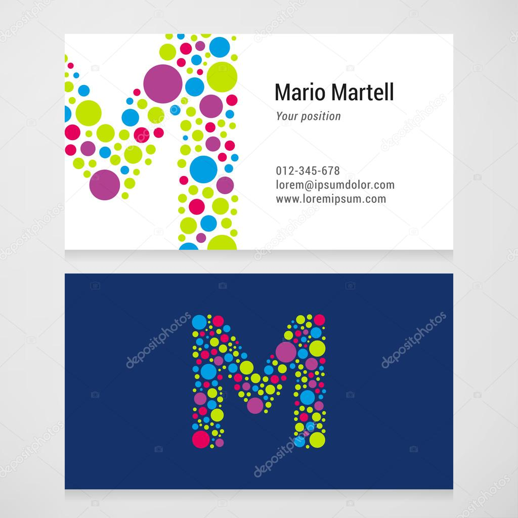 Modern letter m circle business card template stock vector modern letter m circle business card template stock vector wajeb Choice Image