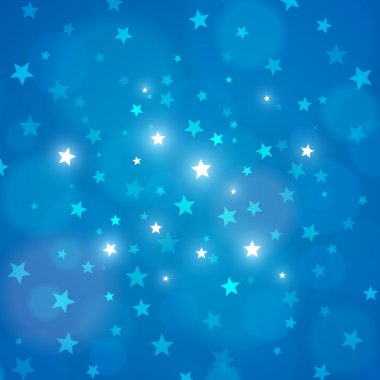 Vector abstract blue night sky stars background