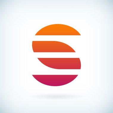 stripes letter S icon design element template