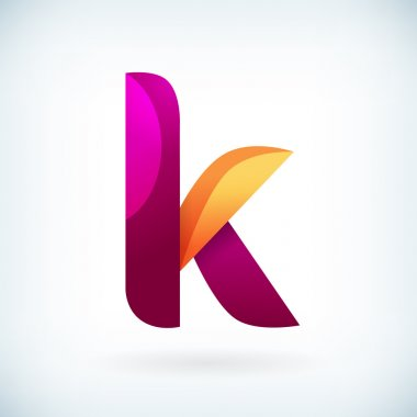 Modern twisted letter k