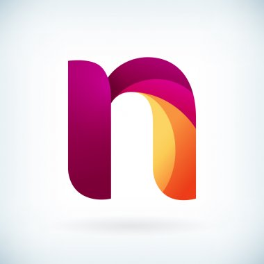 Modern twisted letter n