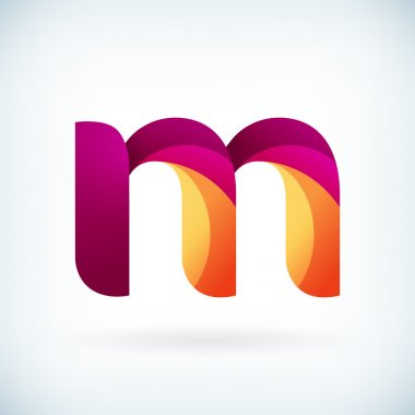 Modern twisted letter m