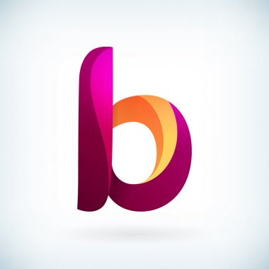 Modern twisted letter b