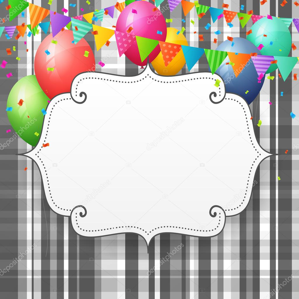Empty birthday greeting card with balloons and flags stock vector empty birthday greeting card with balloons and flags stock vector bookmarktalkfo Choice Image