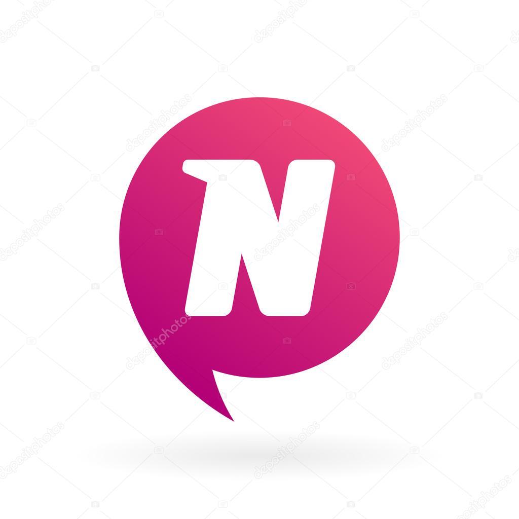 Modern Letter N Logo Design Icon Template Stock Vector