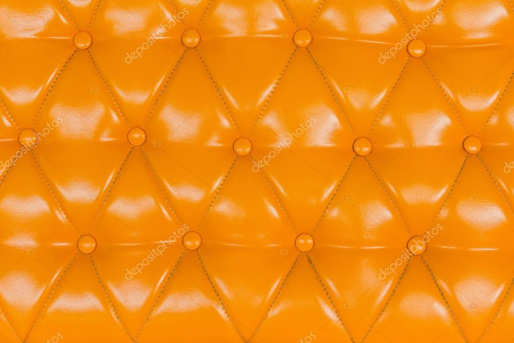 Gelbes Sofa Polster Leder Muster Fur Den Hintergrund Stockfoto