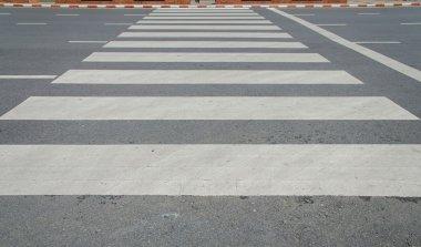 Zebra traffic walk way in city