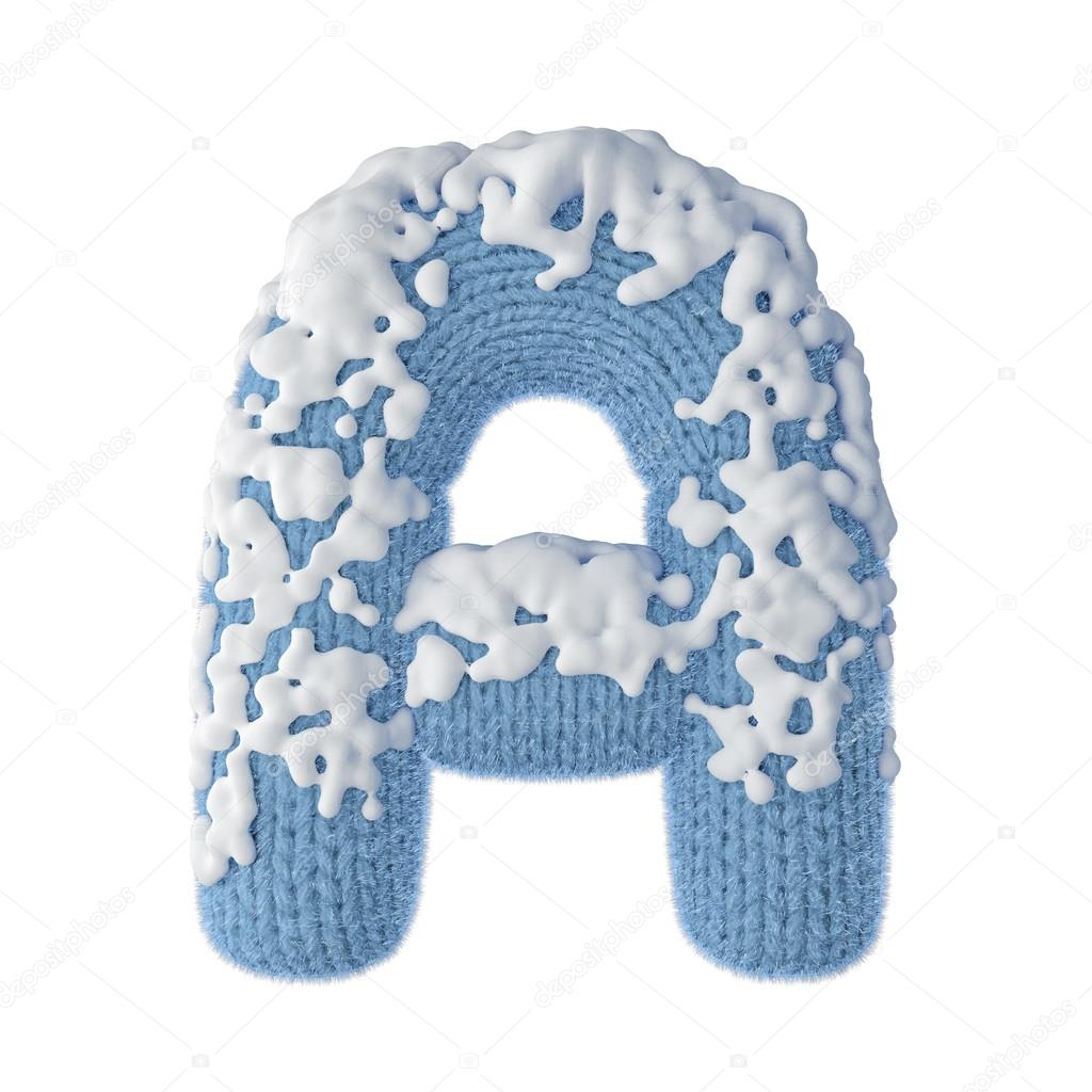 Letters font made of wool covered with snow stock photo letters font made of wool covered with snow stock photo madrichimfo Images