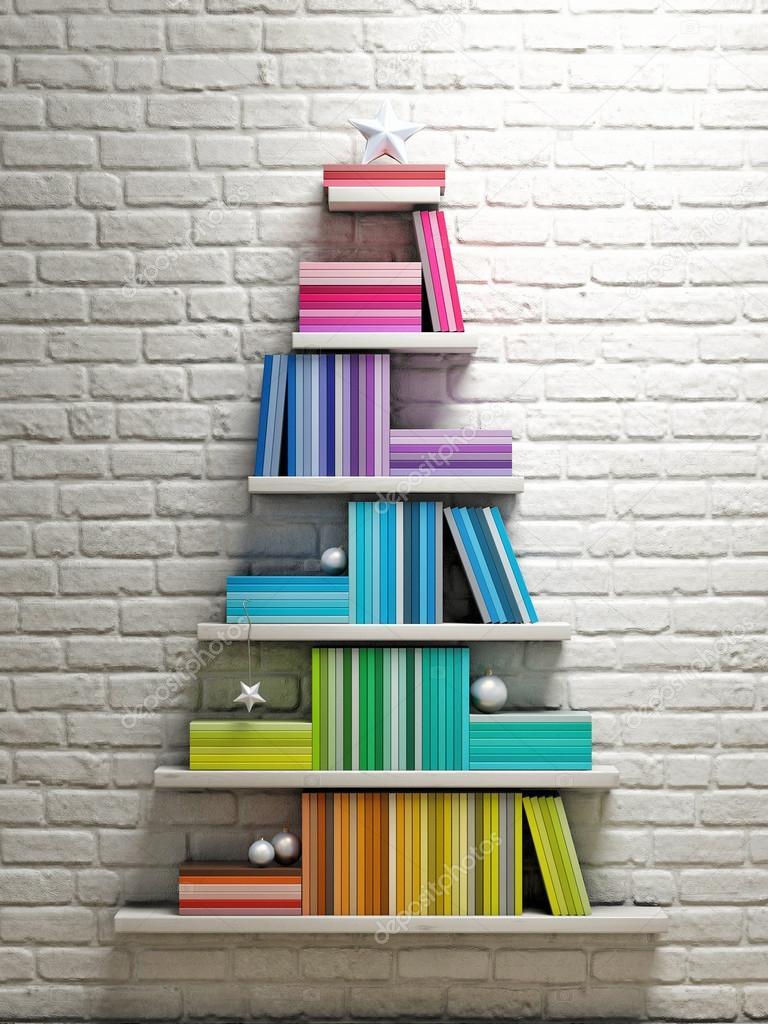 Bookshelf Christmas Tree Photo By CorDesign