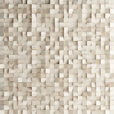 Abstract texture from wooden cubes, 3d render stock vector