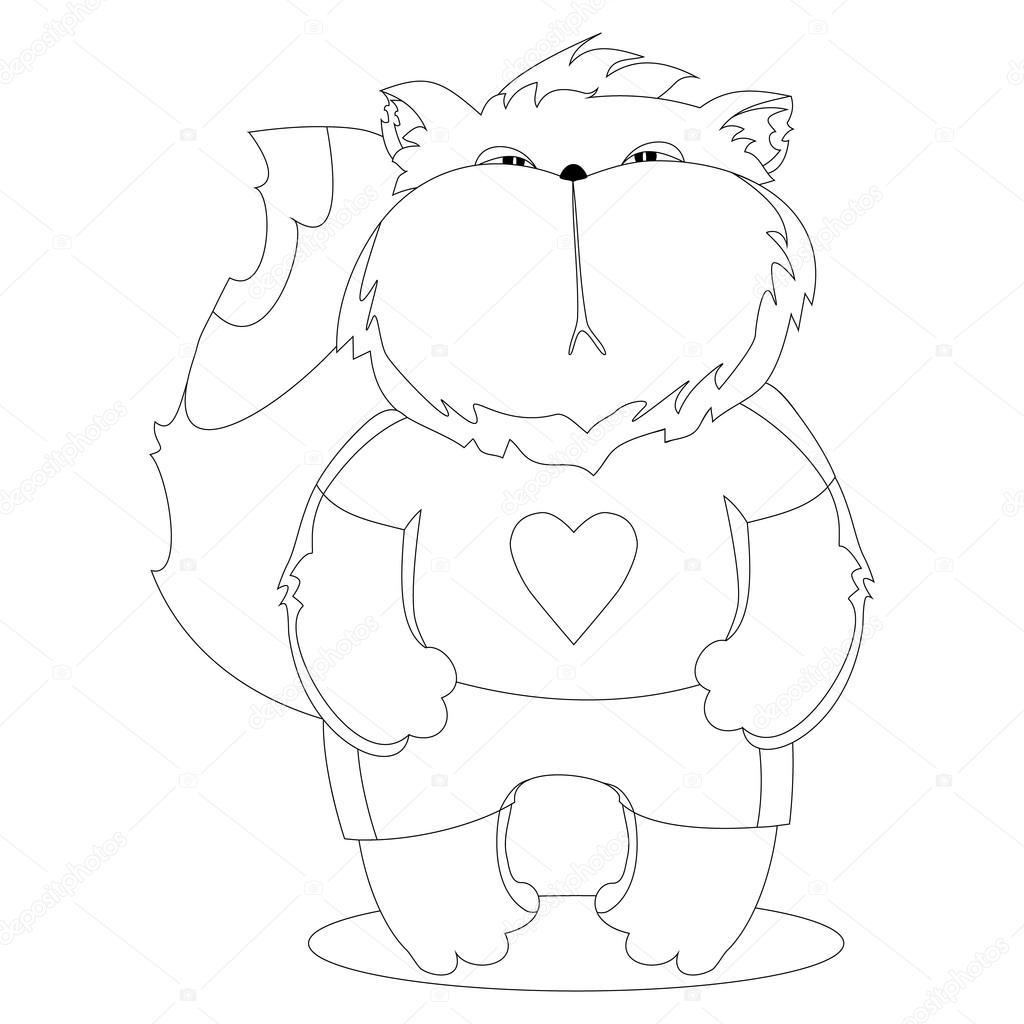Gatto Serio Nei Vestiti Personaggio Dei Cartoni Animati Disegno Da
