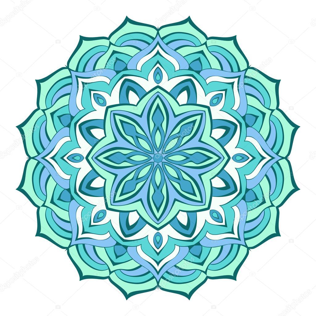 Imágenes Mandalas Color Azul Fantasía De Mandala De Líneas