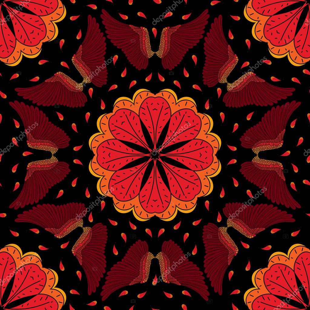 Phoenix seamless pattern