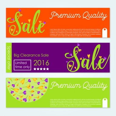 Set of vector Sale banners. Spring sale