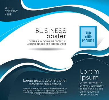 Stylish presentation of business poster, magazine cover, design