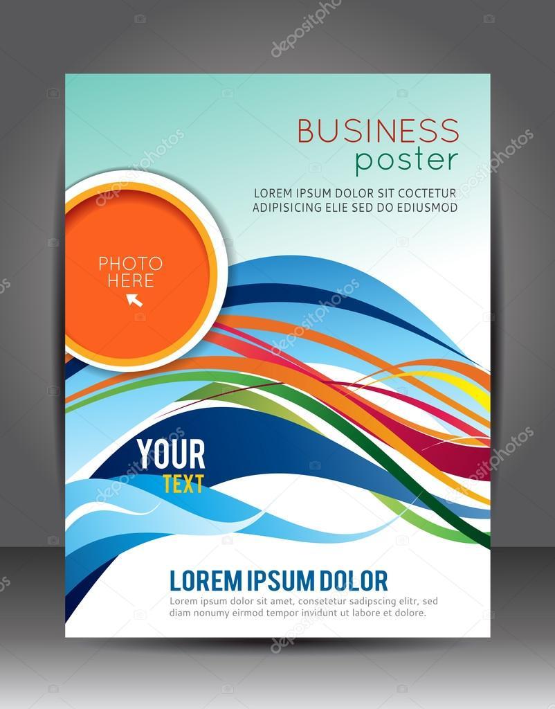 Fondo de negocios abstractos. plantilla de capa. folleto o volante ...