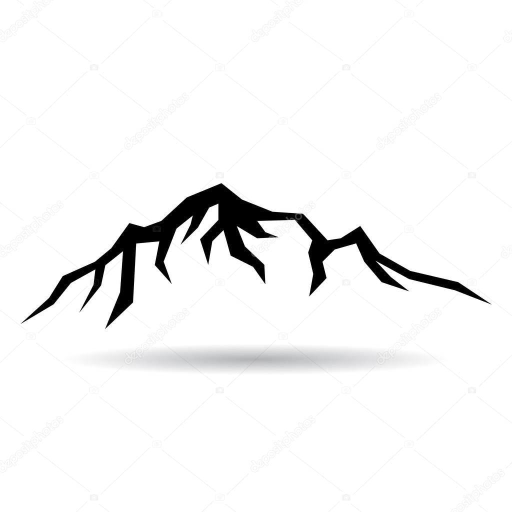 mountain vector icon stock vector igordudas 59229767 rh depositphotos com mountain vector file mountain vector ai
