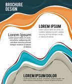Magazine or brochure,  design smooth wave
