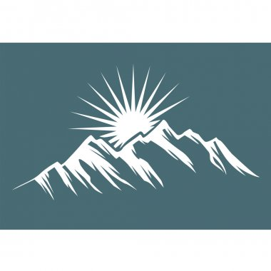 White mountain icon