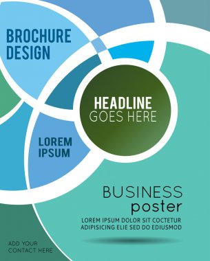 Magazine or brochure design template