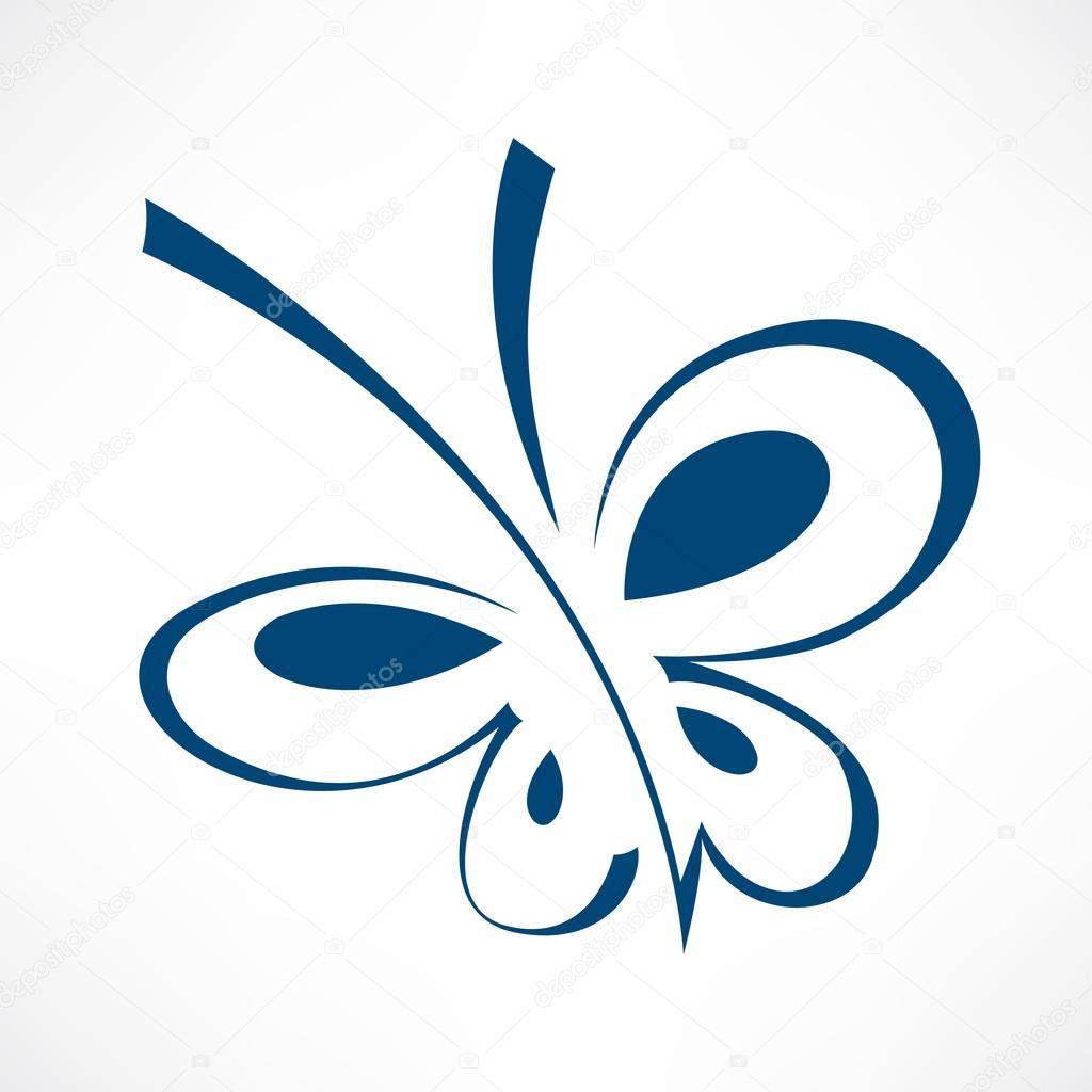 Blue butterfly symbol stock vector igordudas 84901294 blue butterfly symbol stock vector biocorpaavc Image collections