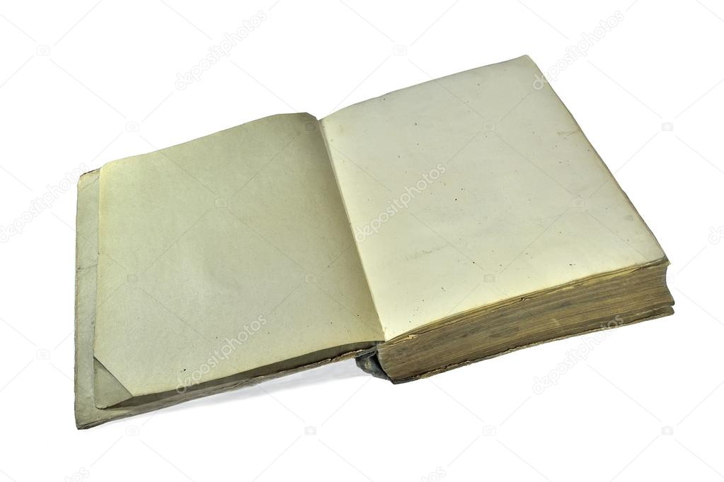 Vieux Livre Ouvert Avec La Couverture Rigide Minable