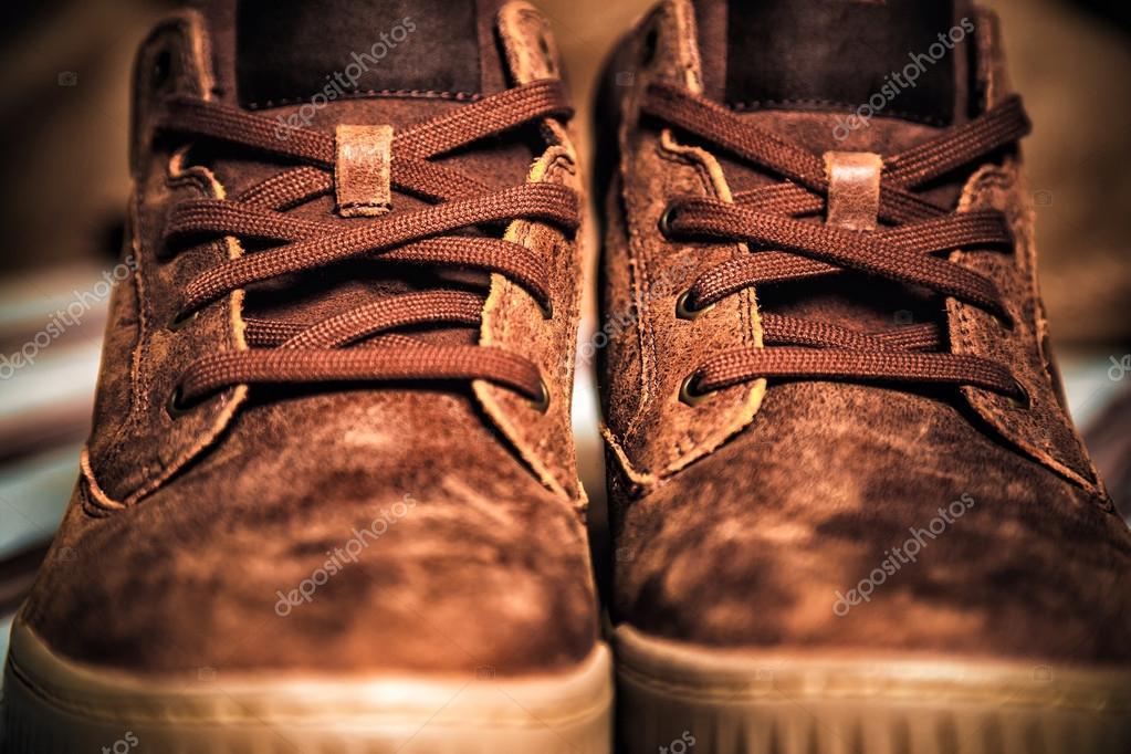 Scarpe alla moda maschile, scarpe di cuoio — Foto Stock