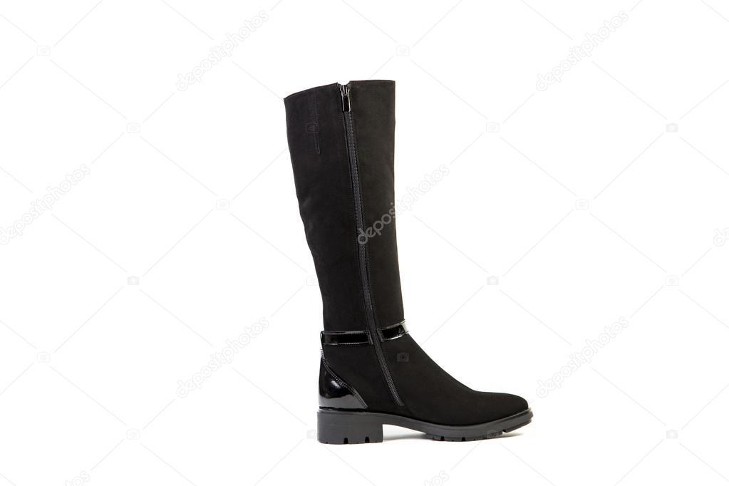 cheaper 944b6 a9630 Damen-Stiefel auf weißem Hintergrund, Wildleder Schuhe ...