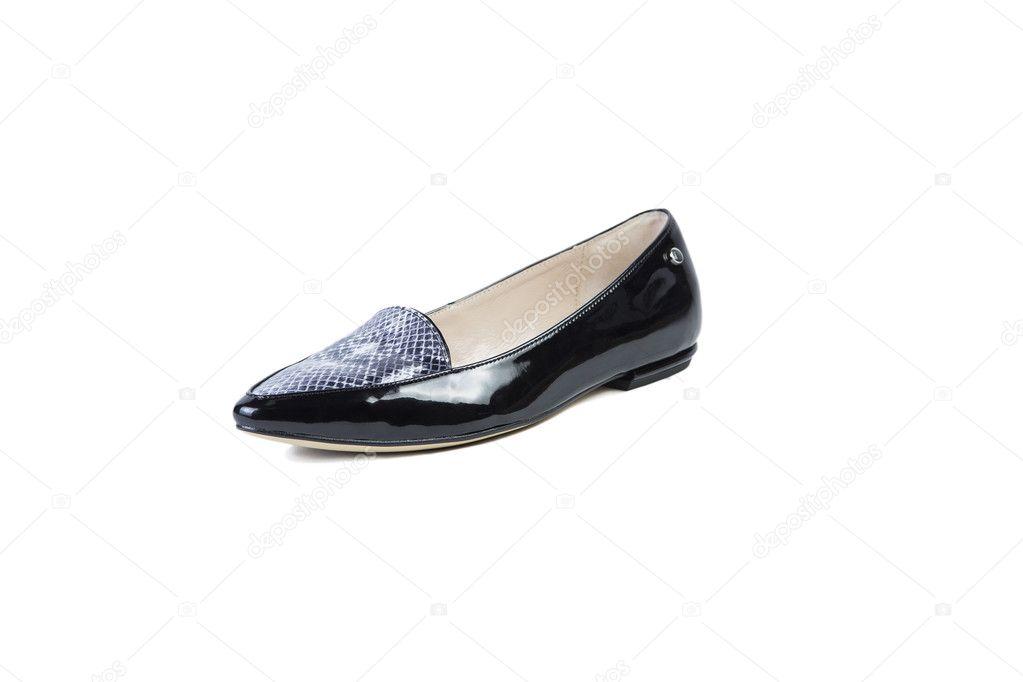 83e3d5857fcd Fekete cipő, fehér háttér, női elegáns cipő, Eladás Vásárlás online– stock  kép