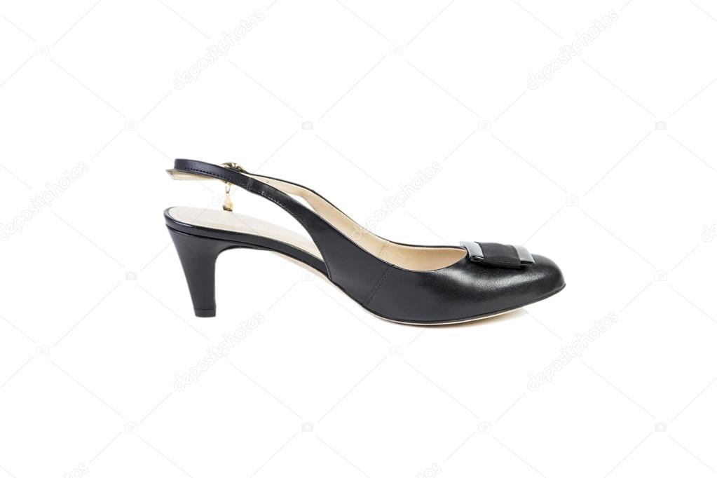 f3de59ae2ff Κομψά παπούτσια σε λευκό φόντο, γυναίκες online κατάστημα– εικόνα αρχείου