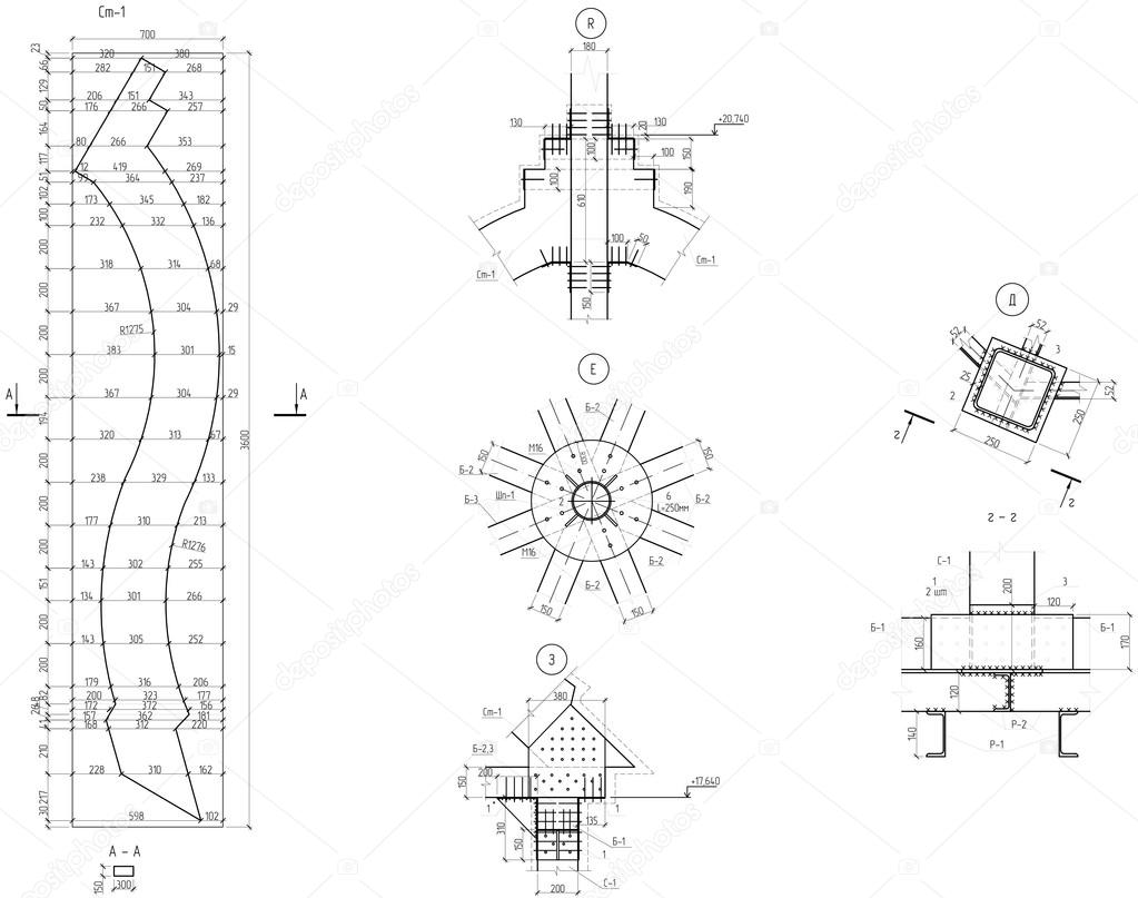 Cupola Piegato Capriate Disegno Foto Stock Sergantstar 74801853 Schematic Di
