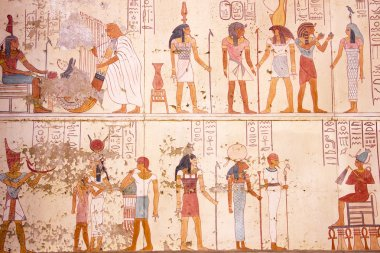 Egyptian Hieroglyphs And Images