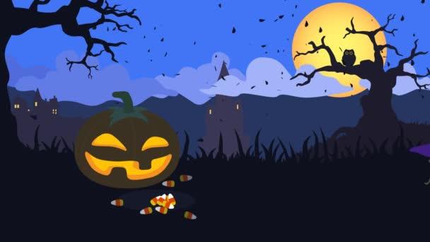 4 k hladce loopable halloween animace