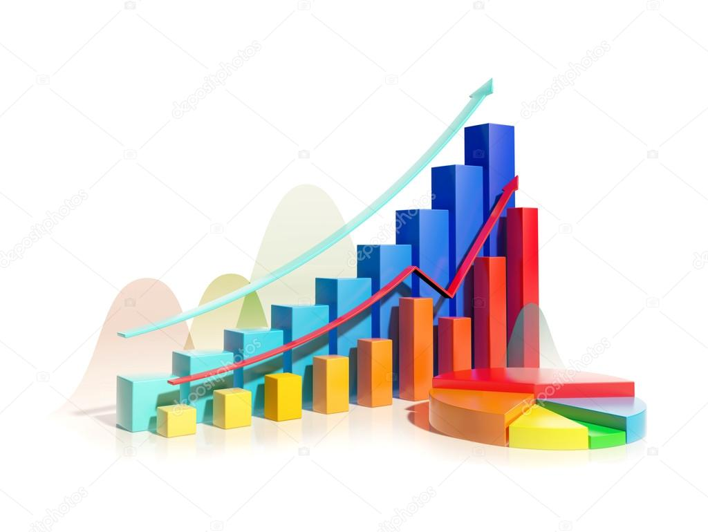 Growing Bar Graphs And Pie Chart Stock Photo Blackonix1 54996481