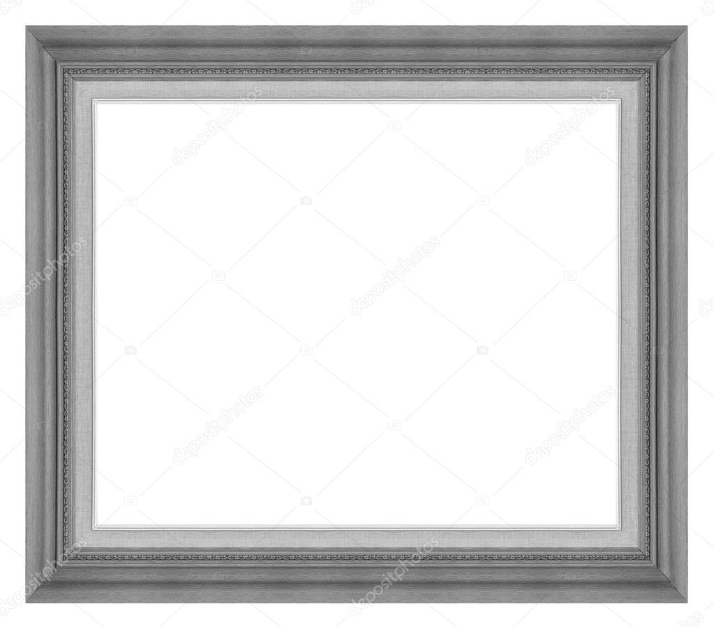 Antigua madera gris marco aislado sobre fondo blanco, tr — Foto de ...