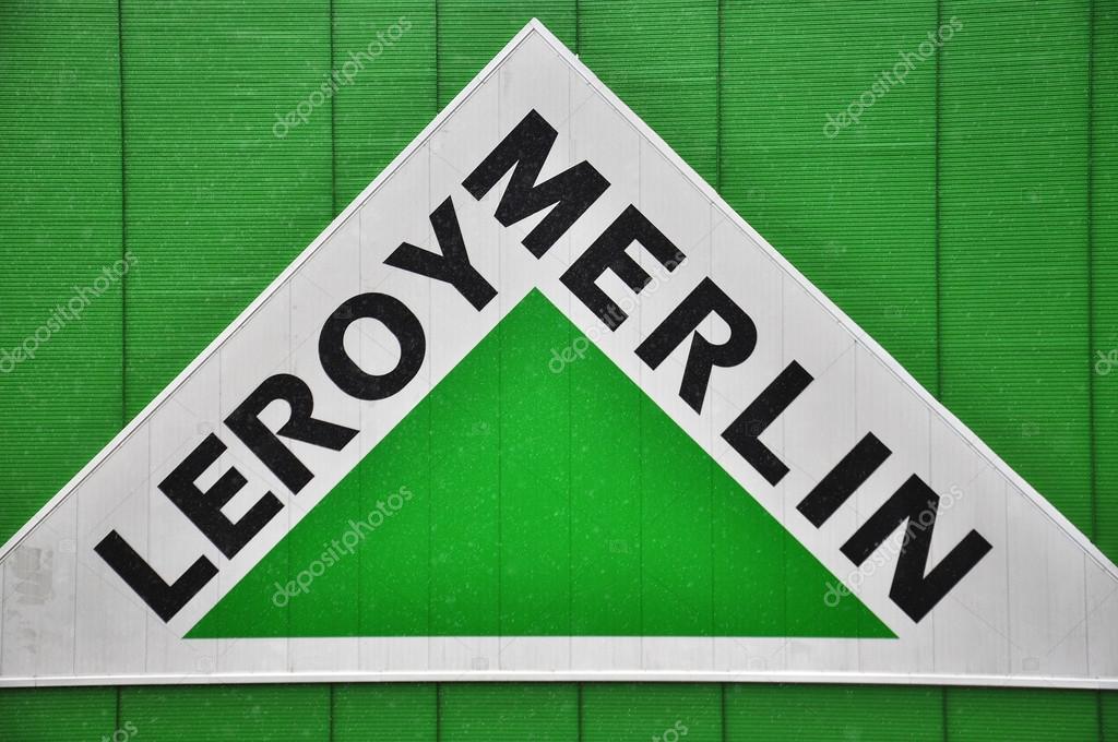 Logo der firma leroy merlin u2014 redaktionelles stockfoto © krasnevsky