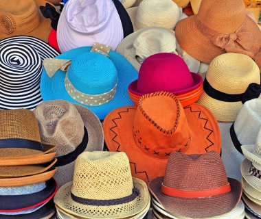Variety of the hats