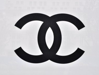 Chanel logotype on white background