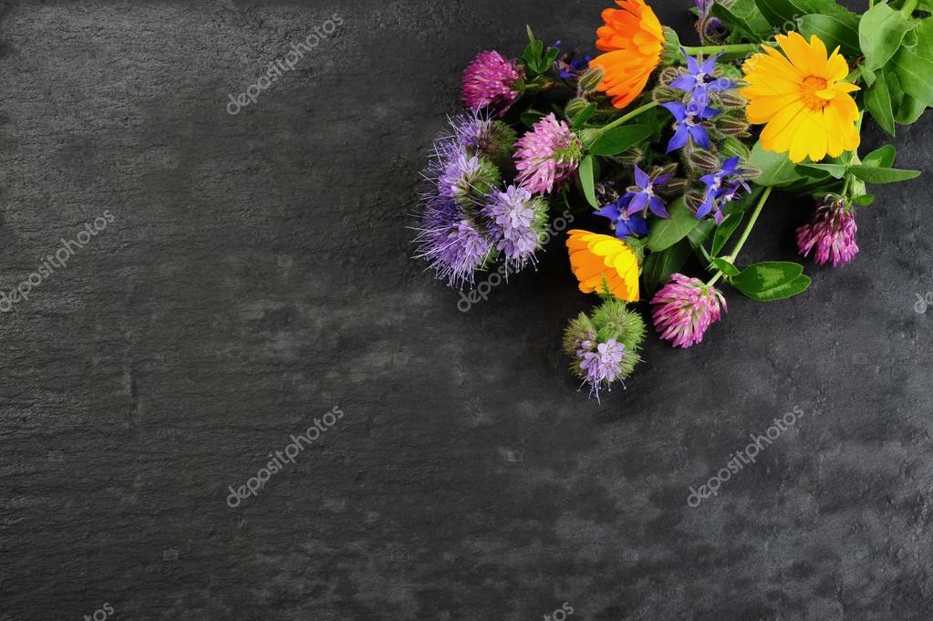 fresh harvested summer flower bouquet