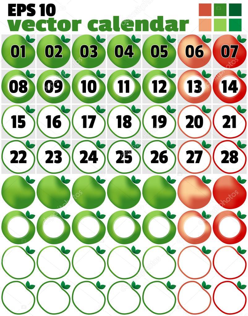 Vorlage für die Produktion eines Kalenders. Ein Beispiel für ...