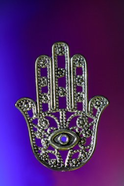 Hand of Fatima or Hamsa with eye