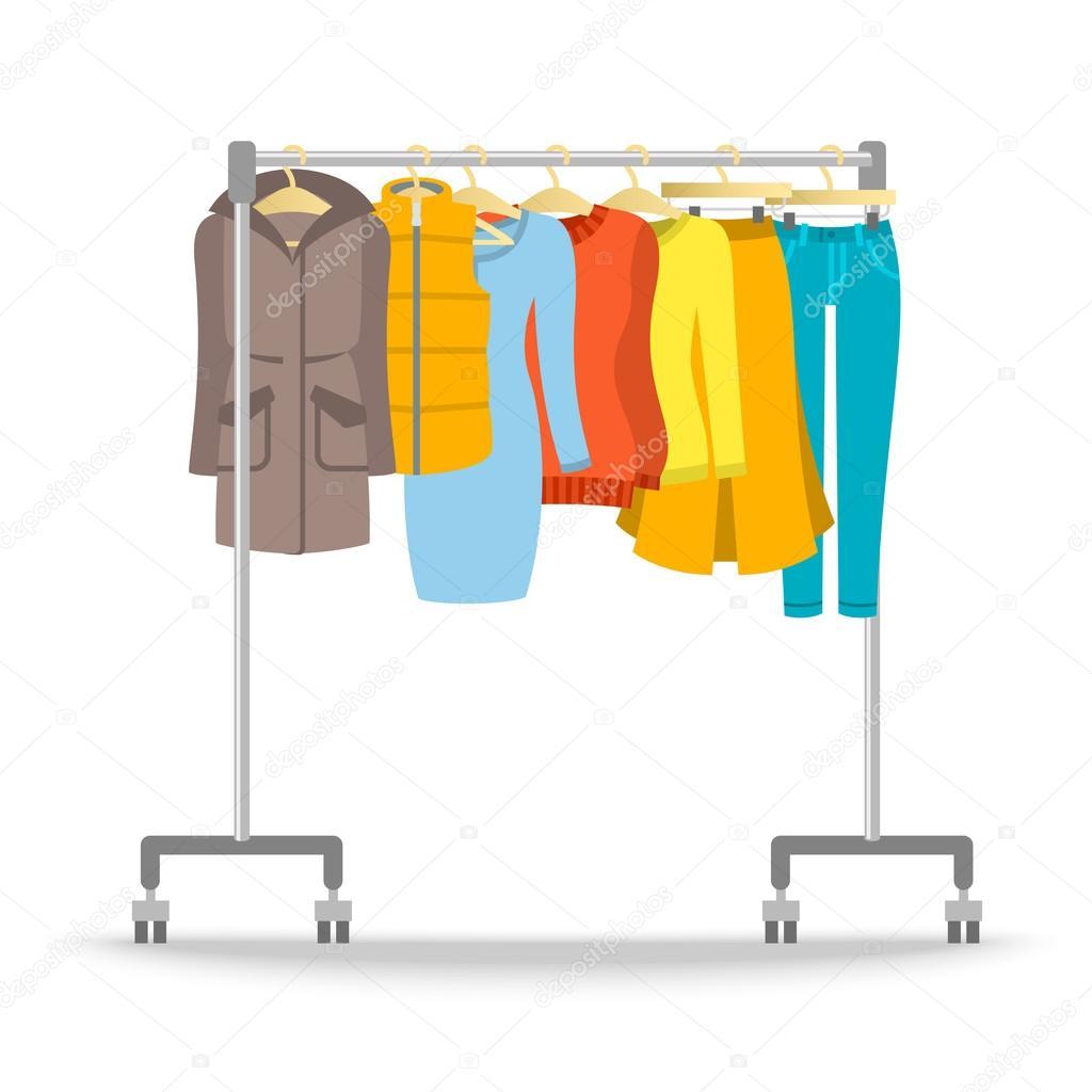 5213f6598 Fogas rack meleg női ruhák téli kollekció — Stock Vektor ...