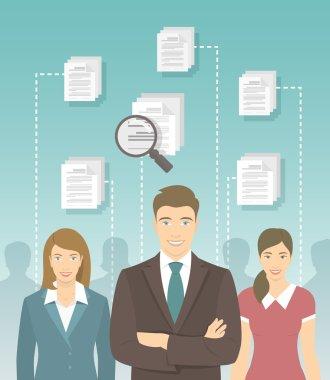 Human Resources Management Flat Concept