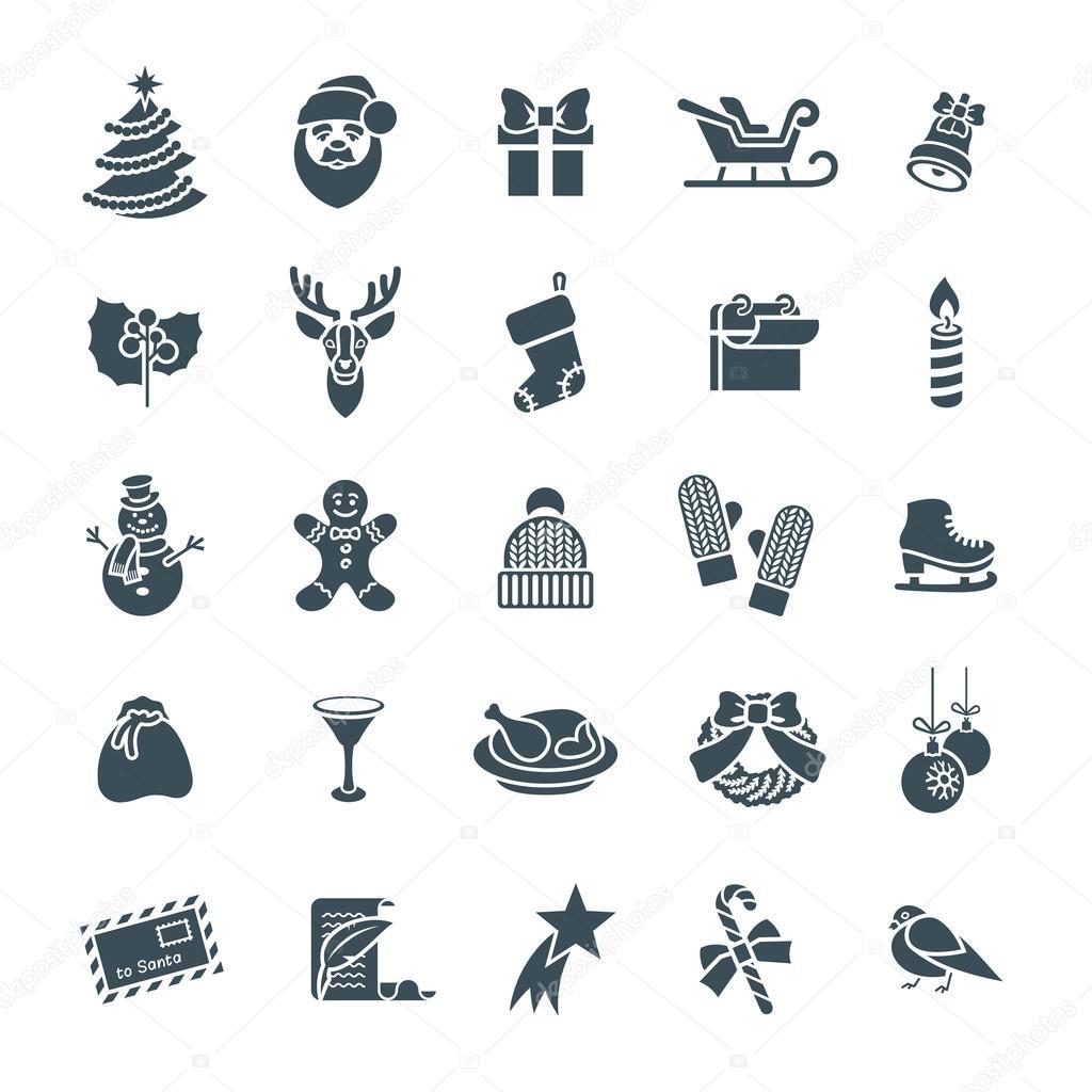 christmas text symbols
